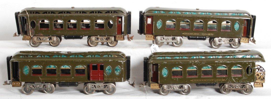 548: Lionel 18, 18, 19, 190 standard gauge passenger ca