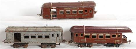685 Nice restoration lot of Ives SG passenger cars