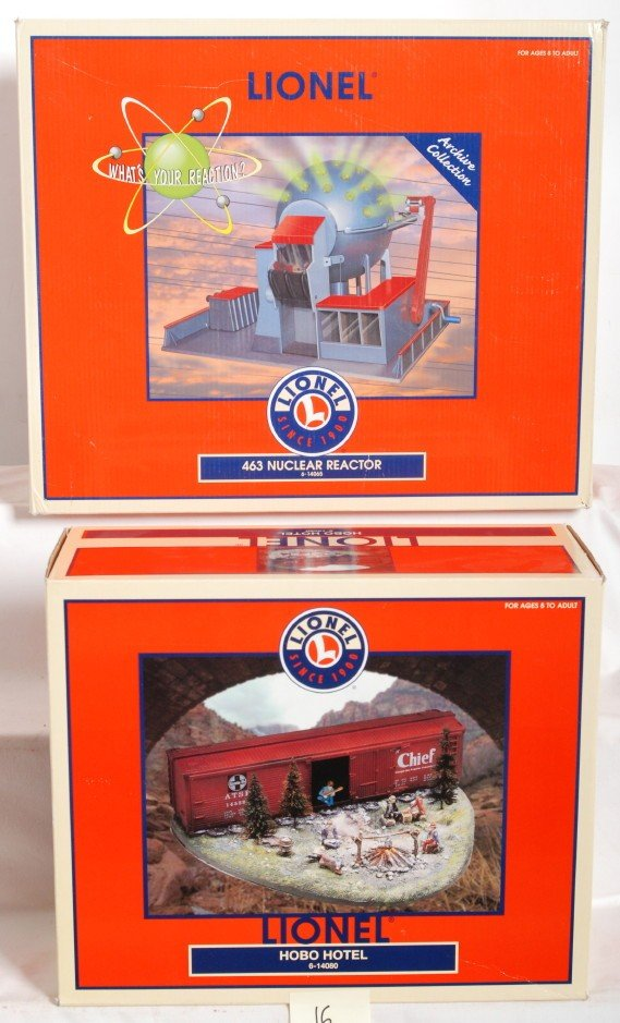 16: Lionel 463 nuclear reactor and hobo hotel