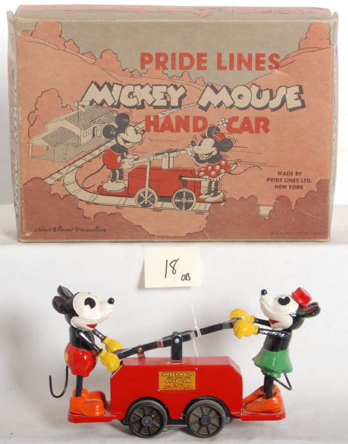 18: Pride Lines 1100 Mickey Mouse hand car set