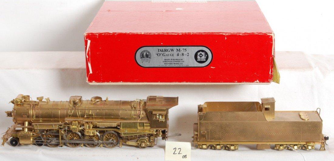 22: West Side Models brass D7RGW 4-8-2