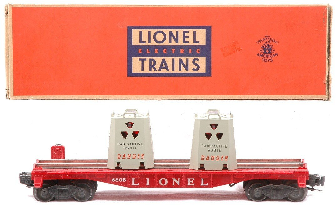 2: Lionel 6805 Atomic Energy Disposal Car LN OB