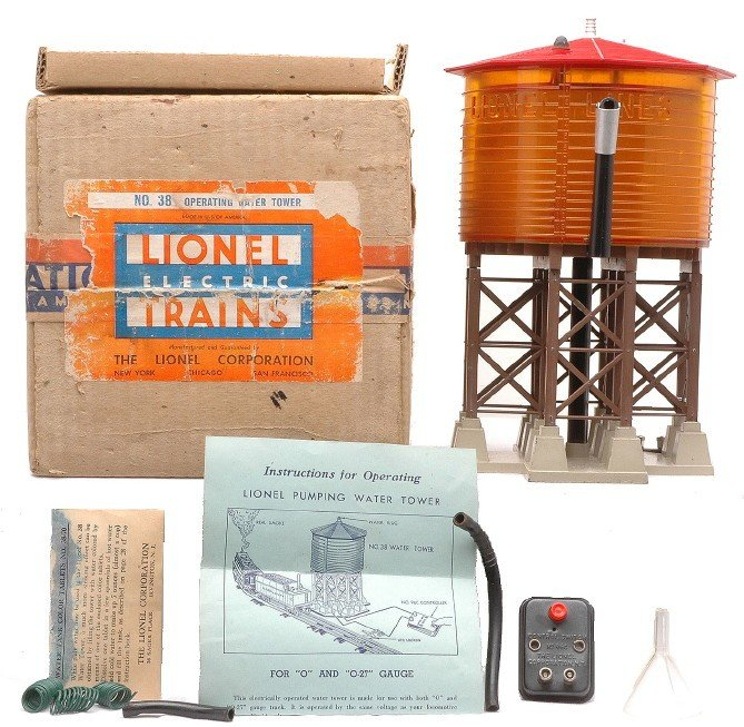 9: Lionel 38 Pumping Water Tower LIKE NEW Boxed