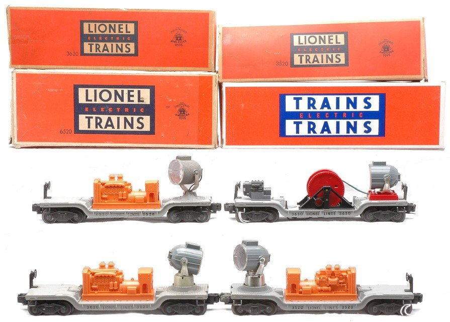14: Lionel 3520 3620 6520 3650 Searchlight Cars OBs