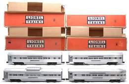 163: Lionel Aluminum Pass Cars 2534 2533 2532 2531 OBs