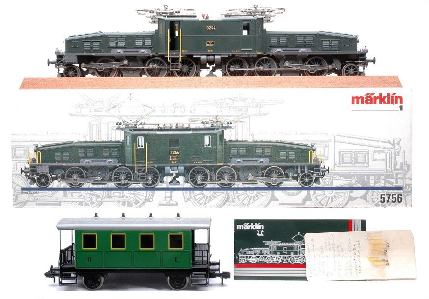 189: Marklin 1 Ga. 5756 Crocodile Loco Display Board