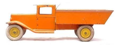 242: Wyandotte Toys Orange Dump Truck