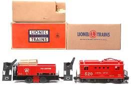 417: Lionel 55 Tie-Jector OB 520 Boxcab Electric Loco