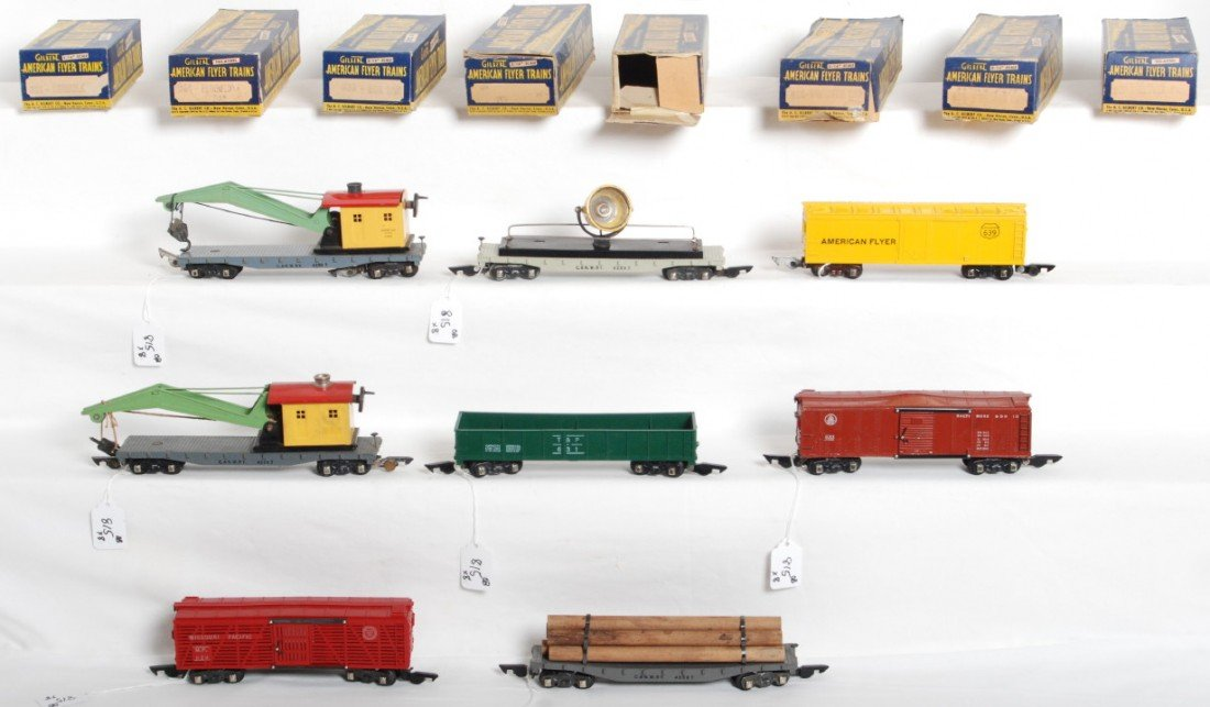 815: Eight American Flyer freight cars in original boxe
