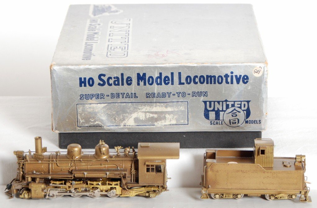 1603: United Models brass 2-8-2 steam locomotive