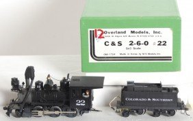 1613: Overland Models Colorado and Southern 2-6-0