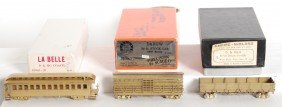 1615: 3 HOn3 D&RGW brass freight and pass cars