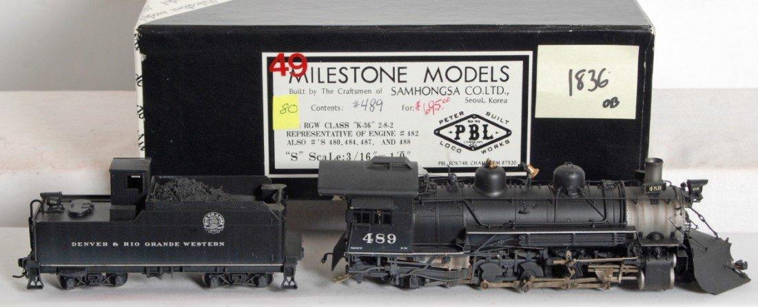 1836: Milestone D&RGW K-36 2-8-2 steam locomotive - 2