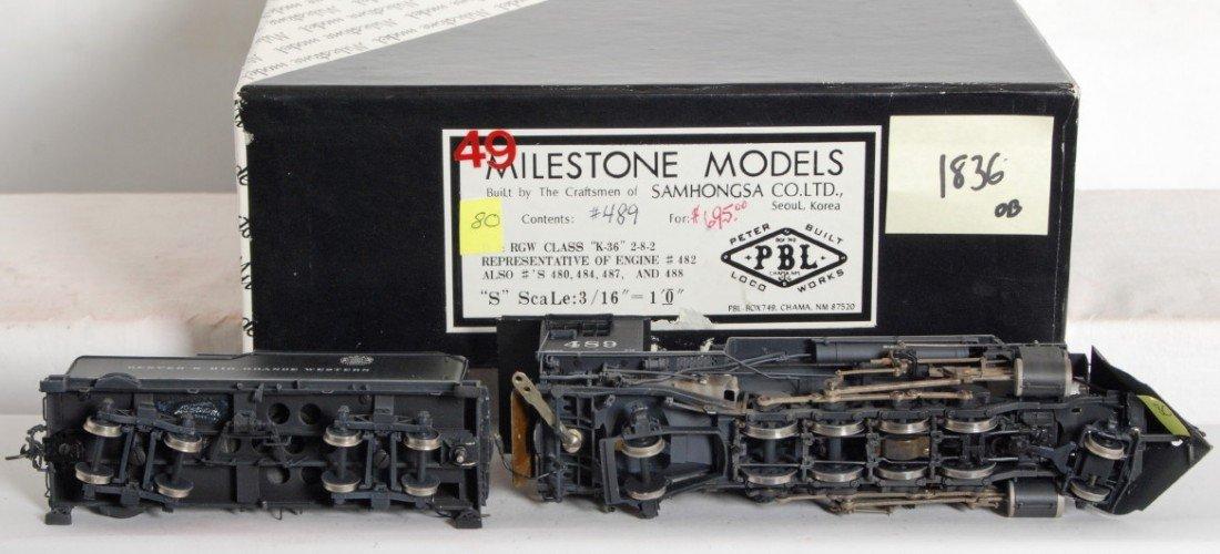 1836: Milestone D&RGW K-36 2-8-2 steam locomotive - 3