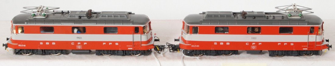 1848: 2 Marklin HO SBB 11103 electric locomotives