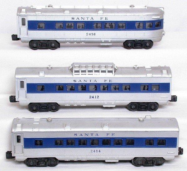 2012: Lionel 2412, 2414 and 2416 blue stripe Santa Fe