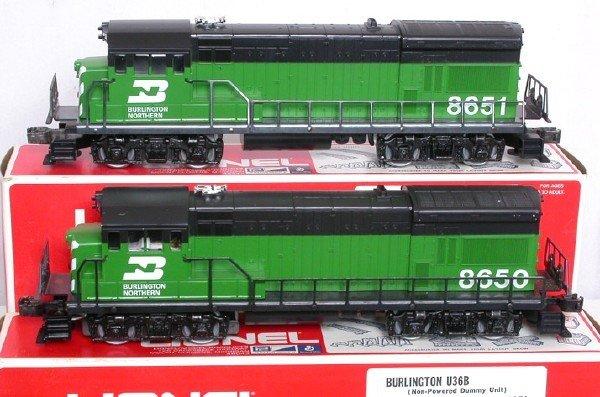 2013: Lionel 8650 8651 Burlington Northern U36B set