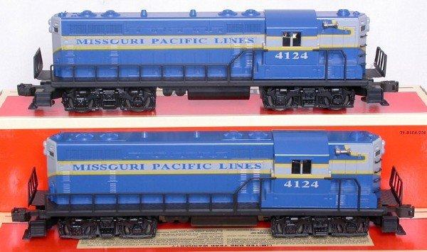 2015: Two Lionel 18514 Missouri Pacific GP7 diesels