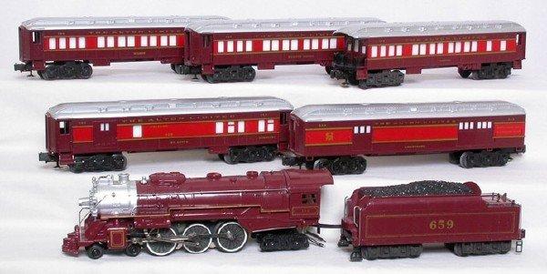 2017: Lionel Chicago Alton passenger set 8101, 5 cars