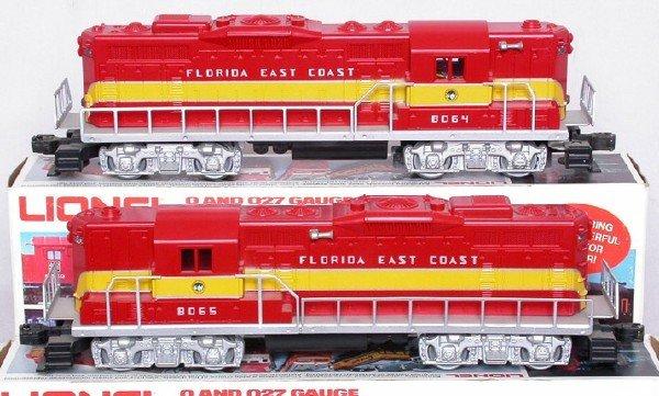 2021: Lionel 8064 8065 Florida East Coast GP9 set