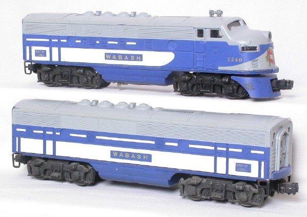 2204: Lionel 2240 Wabash F3 A-B set