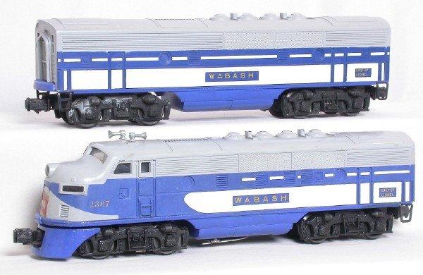 2390: Nice Lionel 2367 Wabash F3 AB units