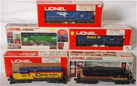 192: 5 Lionel GP-20 diesel locomotives 8958, 8679, 8463