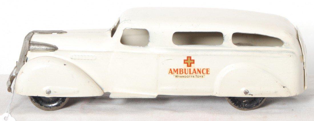 814: Wyandotte Toys Ambulance pressed steel