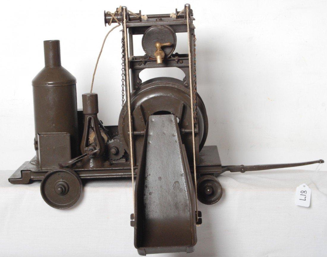 817: Buddy L pressed steel steam concrete mixer