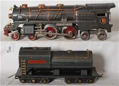 1055 Lionel No 400E loco and tender in gun metal gray