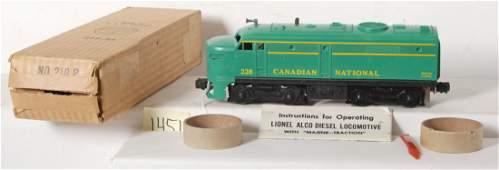 1451: Lionel No. 228P Canadian Pacific diesel Alco in O