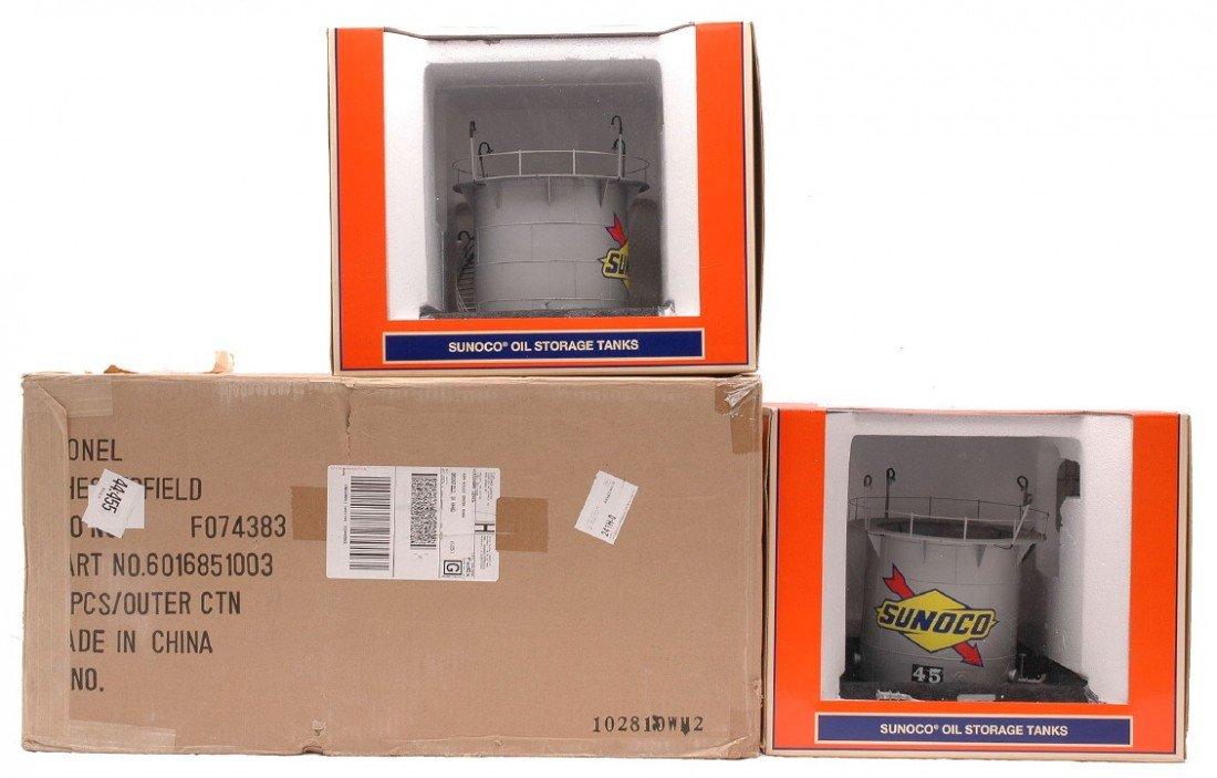 3: Lionel 2-16851 Gray Sunoco Storage Tanks MIB