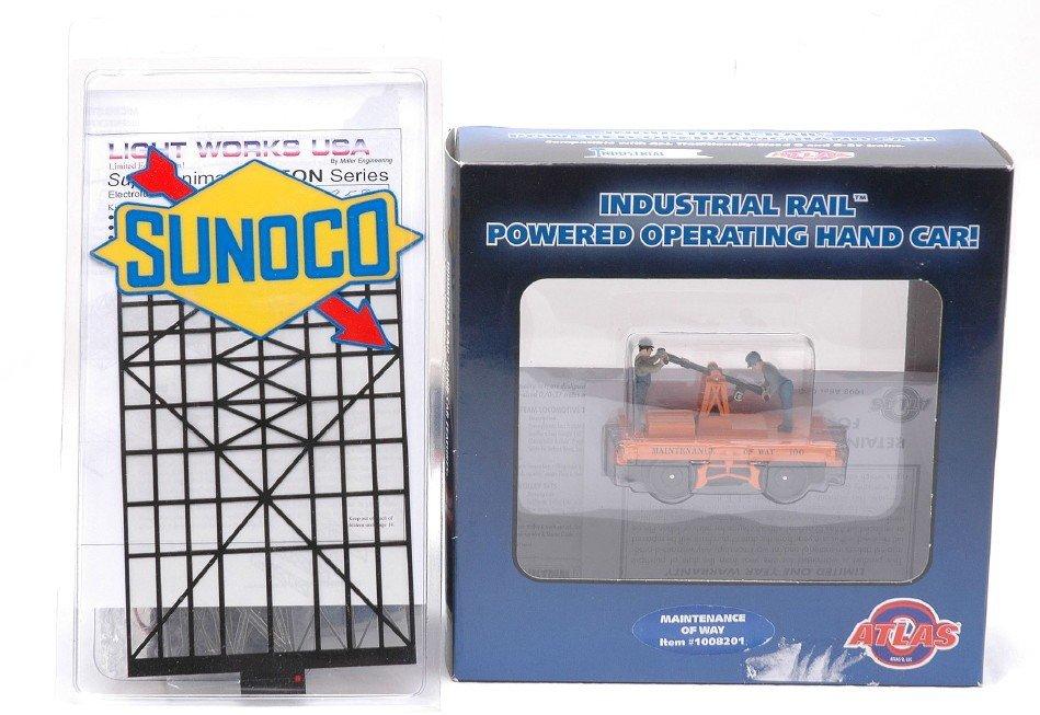 5: Atlas 1008201 Hand Car Light Works USA Sunoco MIB