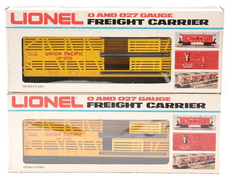 16: Lionel two 9728 UP LCCA Convention Car MIB