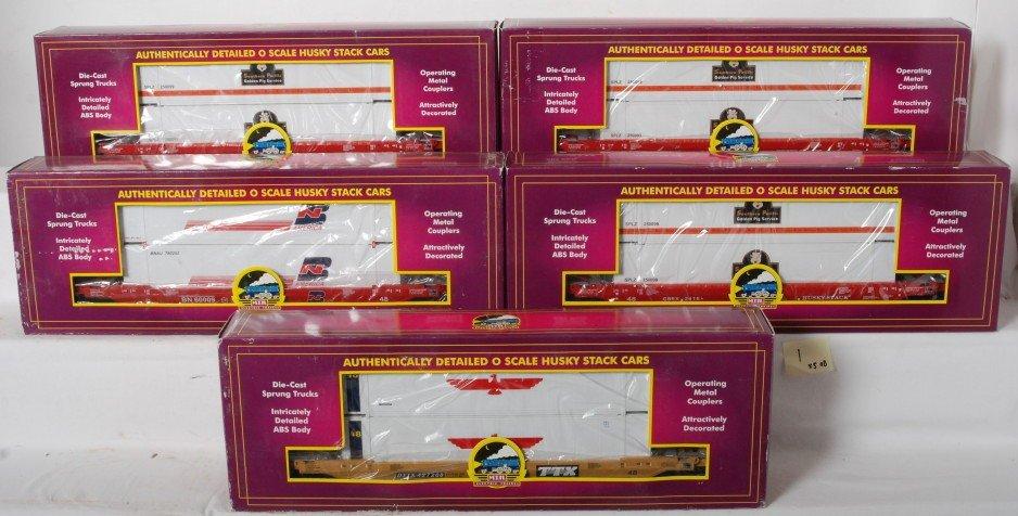 1: 5 MTH Premier Husky Stack cars