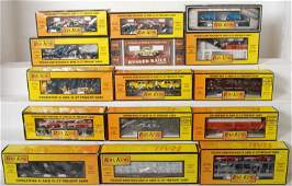 2 15 MTH Railking freight cars 7624 7610 7390 etc