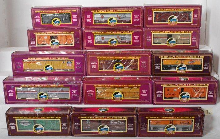 3: 15 MTH premier freight cars 94010, 97101L, 98277, et