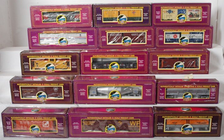 4: 15 MTH freight cars 98215, 93458, 94020, etc.