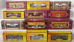 6 12 MTH Railking and Premier freight cars 91013 7649