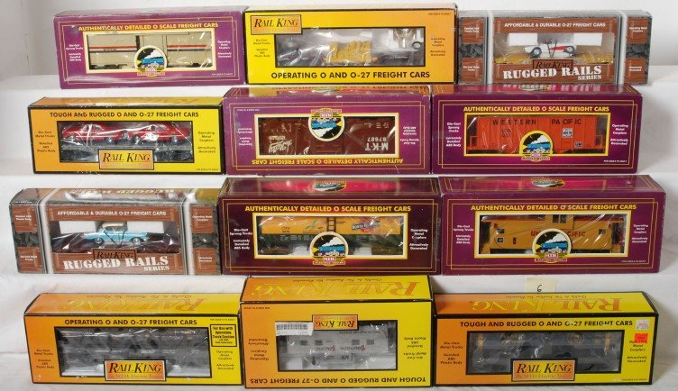 6: 12 MTH Railking and Premier freight cars 91013, 7649