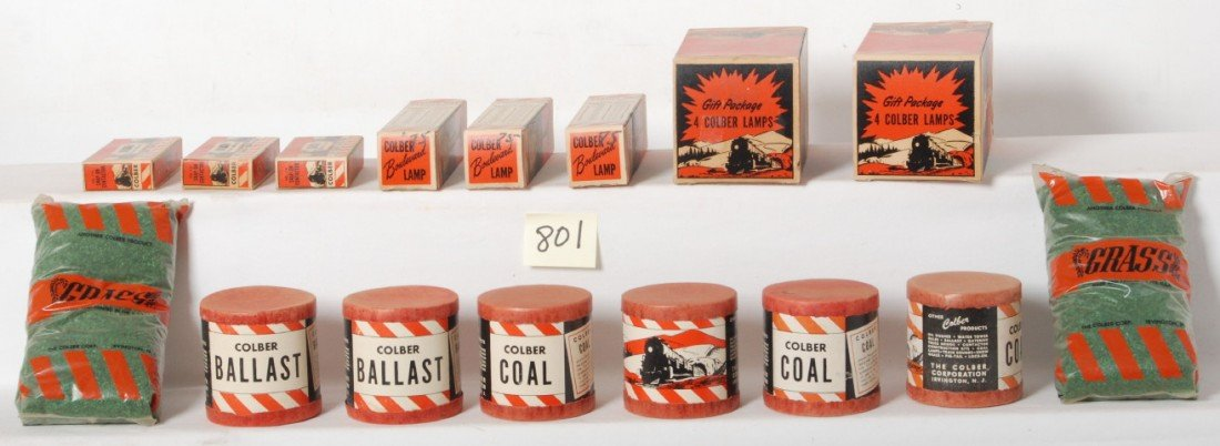 801: Nice lot of postwar Colber layout accessories, NOS
