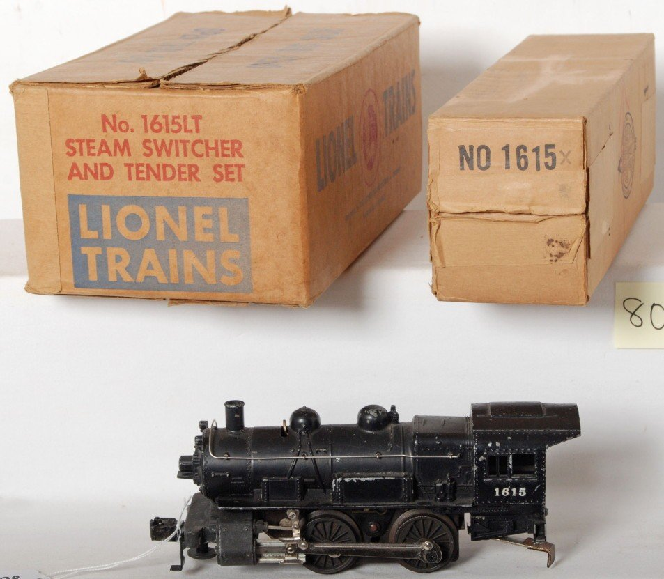 805: Lionel No. 1615LT steam switcher and tender in MC