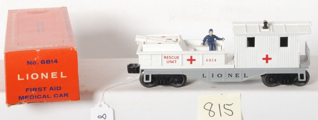 815: Lionel No. 6814 first aid medical car in OB