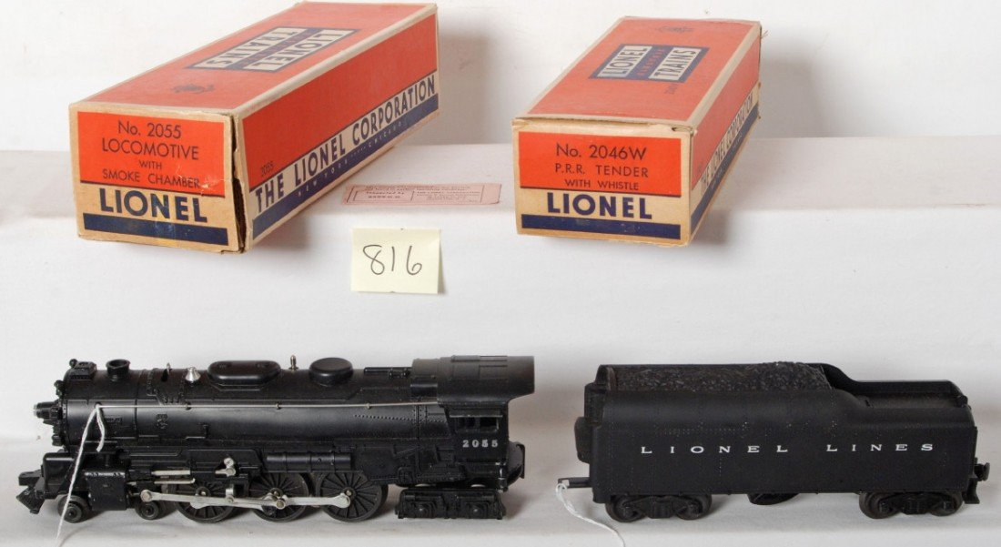 816: Lionel 2055 loco and 2046W tender in OB