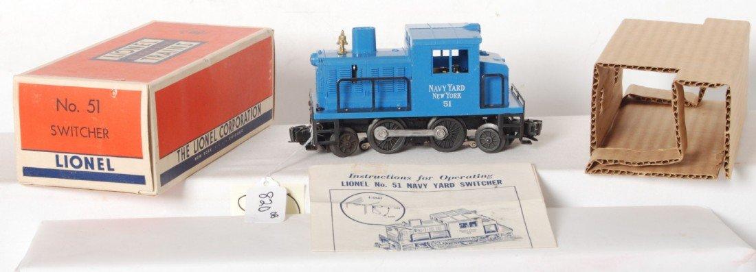 820: Lionel No. 51 Navy Yard switcher in OB