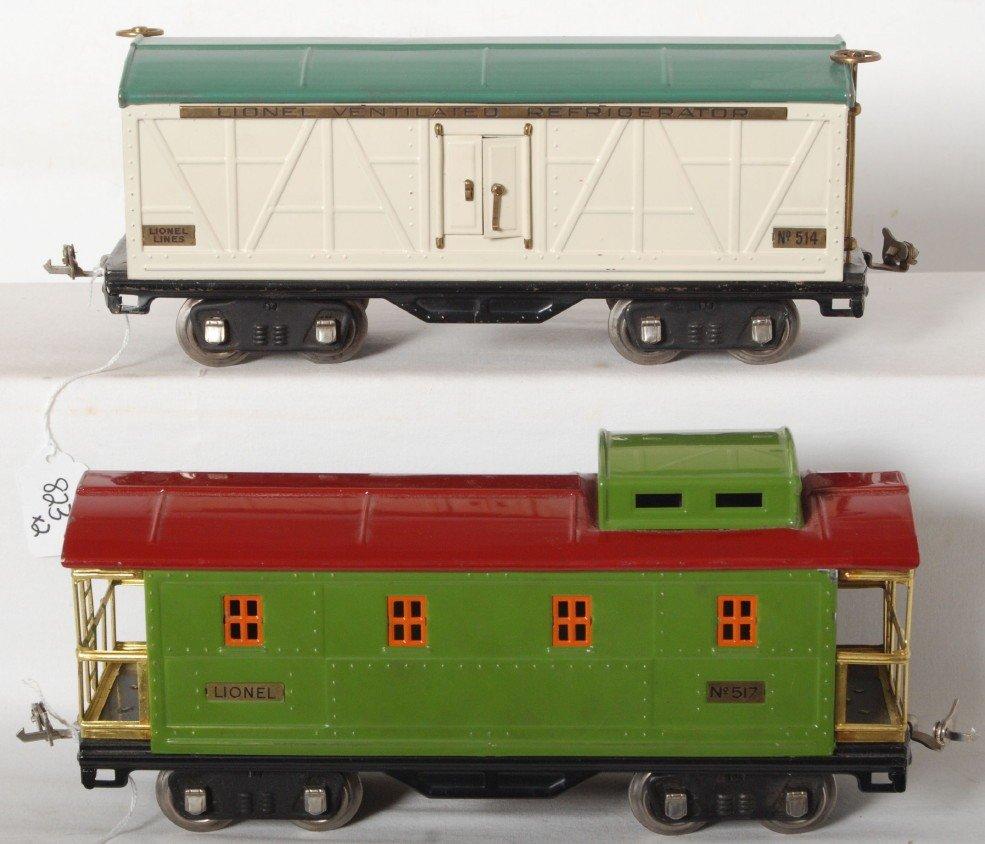 823: Lionel No. 514 reefer and No. 517 caboose
