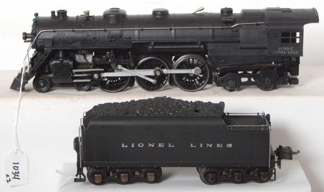 1034: Lionel No. 763-E steam locomotive and 2226W tende
