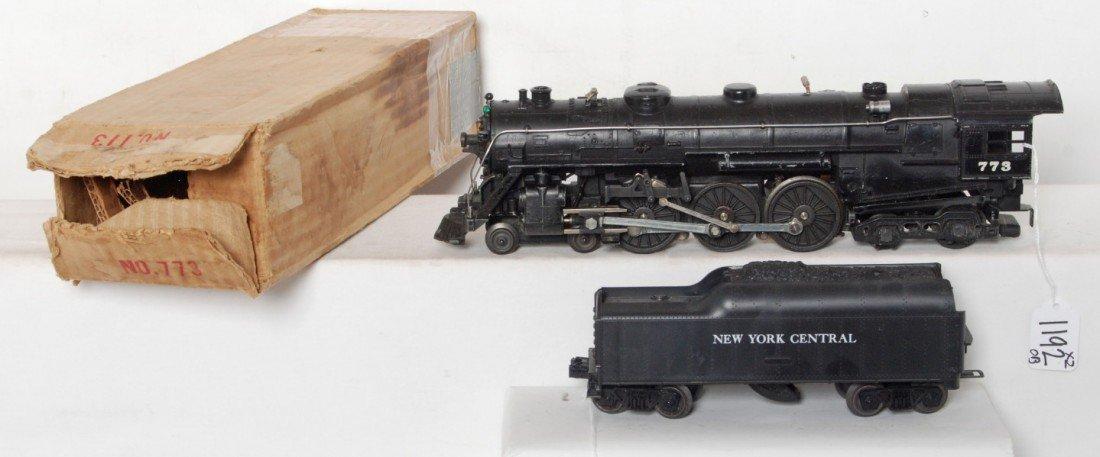 1192: Lionel 773 Hudson and 773W tender, OB