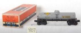 807: Lionel No. 2855 Sunoco tank car in OB w/insert