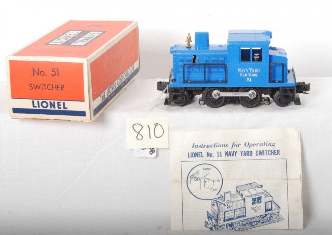 810: Lionel 51 Navy industrial diesel switcher in OB w/
